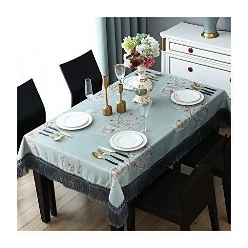 Tafelkleed Vierkant Blended Blauw Stof voor Thuis Keuken Waterdicht Wasbaar Tafelkleed ZXY