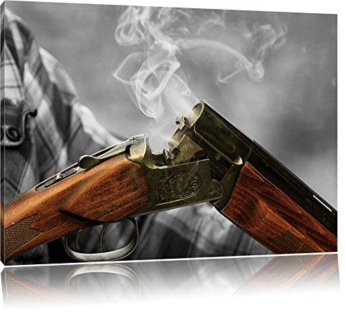 Pixxprint Caccia Pistola Dopo la Cottura Stampa su Tela 60x40 cm Artistica murale