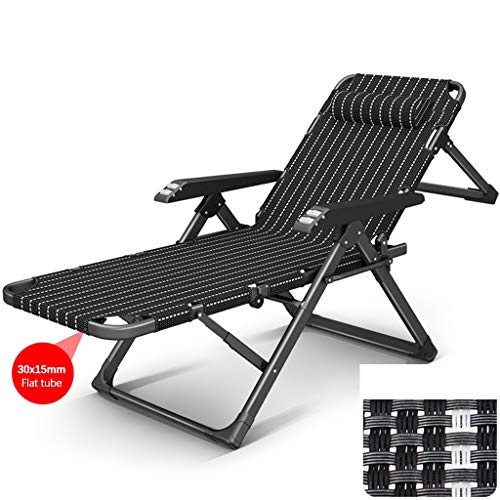 DHR - Tumbona reclinable para jardín, jardín, camping, playa, exterior, Silla 1, 4x4