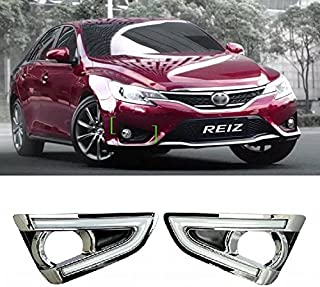 AupTech Car Daytime Running Lights LED DRL Daylight Fog Lamps Kit for Toyota Reiz / MARK-X 2013 2014