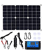Haudang 15 W zonnepaneel 12 V batterijlader kit 50 A controller voor Caravan Van Boat Dual USB