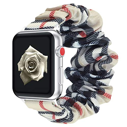 Vozehui Elastic Strap Kompatibel mit Apple Watch Armband 38mm 40mm, Soft Colourful Pattern Bedrucktes Stoffarmband Kompatibel mit iwatch Series 6/5/4/3/2/1 Women Girls