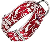 Arppe JACQUARD 4227012060 - Collar educativo, Color Rojo (Granate) y Blanco, 32-49 cm