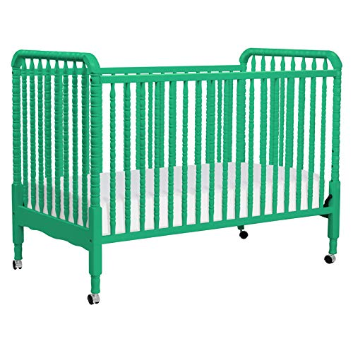 DaVinci Jenny Lind 3-in-1 Convertible Portable Crib in Emerald - 4 Adjustable Mattress Positions, Greenguard Gold