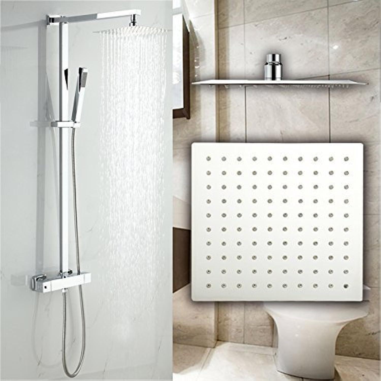 Luxus Duscharmatur mit Thermostat Duschkopf 25x25cm