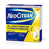 NeoCitran Extra Strenght Cold & Congestion Relief Powder, Non Drowsy, Lemon Flavor - 10 Single Dose Pouches x 2 Pack - Total 20 Pouches (20 Pouches)