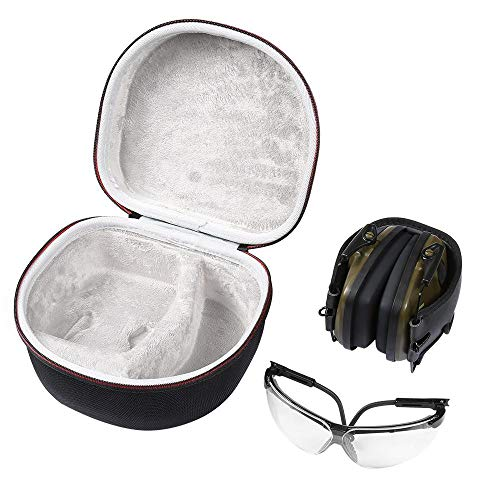 Honrik Hard Travel Storage Carrying Case Bag, Snow Goggles Case Skiing Snowboard Goggles Glasses Hard Carrying Zip Case Box Protector Pouch Sports Glasses Case Sunglasses Carrying Case with Zipper