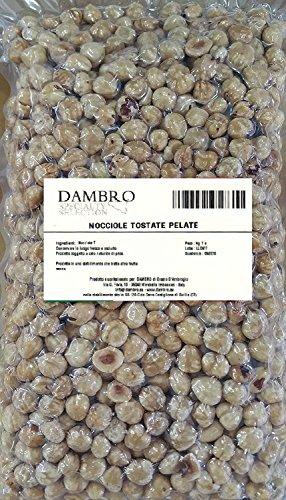 1 kg - Nocciole Tostate Pelate 13/15 - Confezione Sottovuoto - Orig. Italia