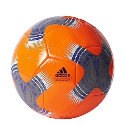 adidas Uel Capitano, Pallone Uomo, Arancio (Narsol/Hiemet/Nero/Tinene), 5