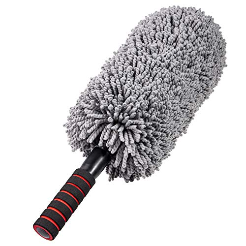 Microfiber Car Duster Brush, Portable Cleaning Duster for Car,Exterior or Interior Use with Long Unbreakable Retractable Handle