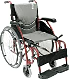Karman Healthcare S-115 Ergonomic Ultra Lightweight Manual Wheelchair, Rose Red, 16