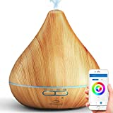 GX diffusore Smart WiFi per Oli Essenziali, Controllo Tramite App, Compatibile con Alexa e Google Home, 300 ml, Umidificatore Cool Mist, per la Purificazione dell'aria e un'Atmosfera Rilassante