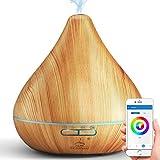 GX·Diffuser Humidificador Alexa Difusor de Aroma 300ml, Difusor Wifi Compatible con Google home y Echo,humidificador inteligente difusor aromaterapia para Bebé, Hogar, Oficina, SPA