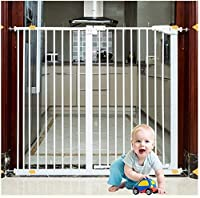 ベビーゲート フェンス ドア付き 階段や廊下の壁には、デュアルロックベビーゲート簡単に調節可能なエキストラ安全な階段子供の安全ドアパンチフリーインストールマウントペットフェンス圧力締結(Hの78センチメートル) (Color : High78cm, Size : 216-223cm)