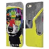 Head Case Designs Licenciado Oficialmente Michel Keck Perro Salchicha Perros 4 Carcasa de Cuero Tipo Libro Compatible con Apple iPhone 6 Plus/iPhone 6s Plus