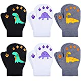 Cooraby 6 Pairs Toddler Magic Stretch Mittens Winter Unisex Baby Knitted Gloves Mittens (Mixed Color M, 1-3 Years)