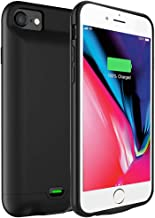 Battery Case for iPhone 6 / 6S, 3200mAh Portable Protective Charging Case Extended Rechargeable Battery Pack Charger Case Compatible with iPhone 7/8 Ultra-Thin - Black (4.7 inch)