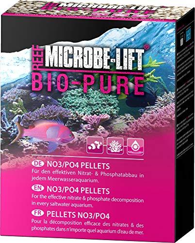 MICROBE-LIFT Bio-Pure Granulés No3/Po4 Bio/Idéaux pour Une Utilisation dans Tous Les Aquariums d'eau de Mer/Matériel de Filtration pour la Réduction des Nitrates/Phosphates 175 g
