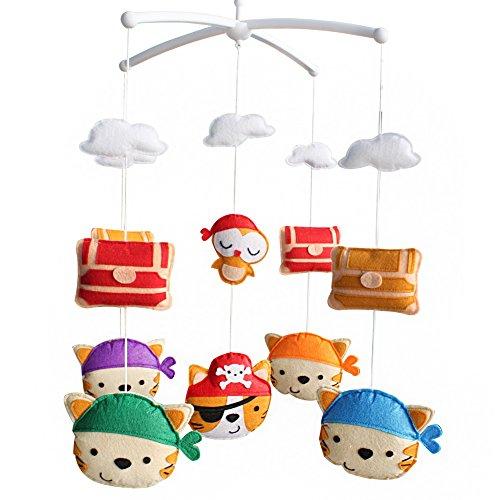 Mobile mobile musical de lit de bébé de pépinière de décoration de berceau pendant 0-2 ans, MP24