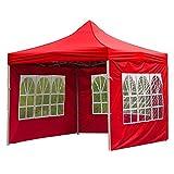 Tente de jardin avec panneaux de pluie et de vent, accessoires de tente d'extérieur, tissu Oxford imperméable anti-UV, pour tente de 3 x 3 m, sans auvent