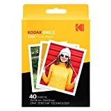 Kodak 3.5x4.25 inch Premium Zink Print Photo Paper (40 Sheets) Compatible with Kodak Smile Classic Instant Camera
