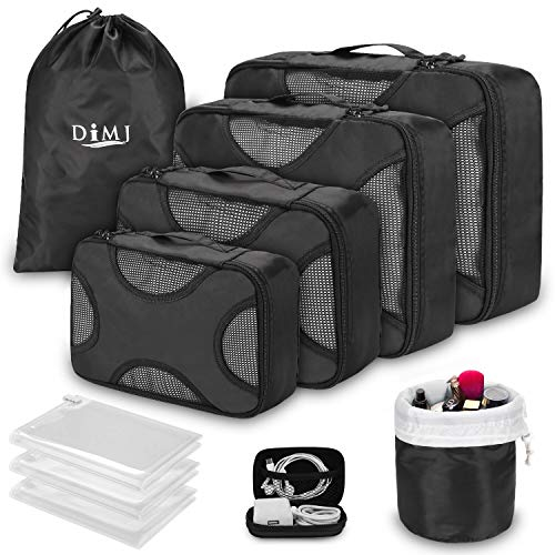 (35% OFF Coupon) 8 Pcs Travel Cubes W/ Toiletrie Bag $11.04