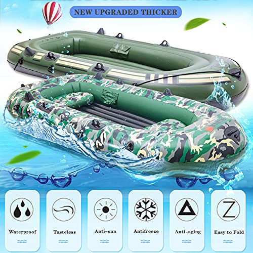 LANHA 3 Person Inflatable Sport Kayak Canoe Boat, with Pump and Oars Raft Inflatable Kayak 1.1mm Thick and Wear-resistant for Adults and Kids Portable Fishing Boat