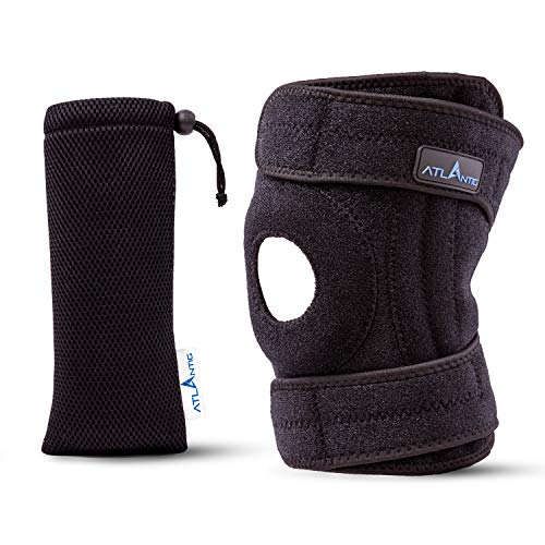 ATLANTIG Knee Brace Support for Men & Women Open Gel Patella Best Dual Stabilizers for Extreme Sports-Relieves Joint Pain Relief-Fast Injury Recovery.