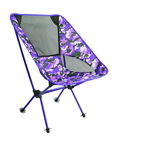 ZDYYCNC Folding camp chair,Portable folding stool Folding chairs Lightweight Beach Barbecue-purple