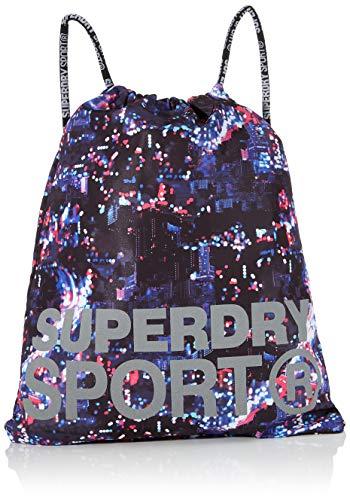Superdry Damen Sport Drawstring Bag Rucksack, Mehrfarbig (City Lights Multi), 35x1x45 cm