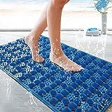 Huoqilin Alfombra de baño, alfombra de entrada, alfombra de suelo, alfombrilla de plástico repelente al agua, almohadilla para pies, alfombrilla de puerta a 50 x 80 cm