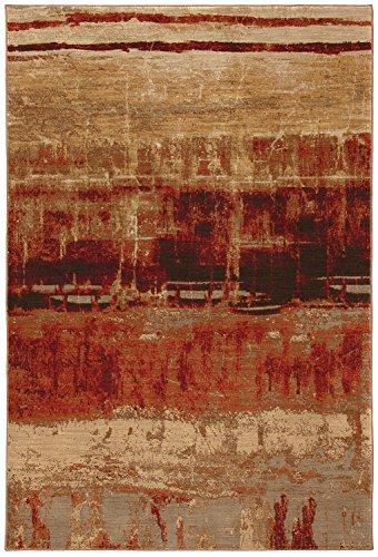 Karastan Intermezzo Mericourtn Woven Rug, 5'6x8'3, Crimson Red