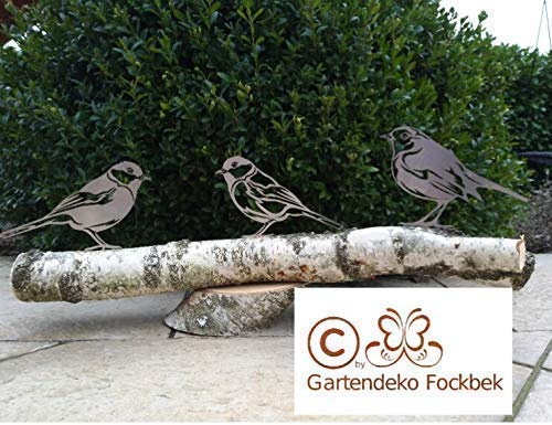 bester der welt Garten Dekofokkbek Vogelfigur / Baumstamm Gartenvögel (3) Rust Chikadi Robin Sparrow 2021
