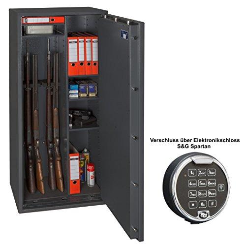 Waffenschrank Waffentresor Kombischrank EN 1143-1 Klasse 1-6 Waffenhalter - Elektronikschloss