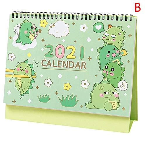 lejia 1pc de Dibujos Animados del Calendario de Escritorio Planificador Tabla Calendario Horarios 2.020,08-2.021,12 (Color : B)