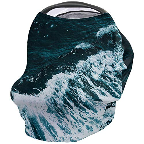 Best Review Of Ocean Nursing Cover for Baby Breastfeeding, Soft Breathable Stretchy Carseat Canopy, ...