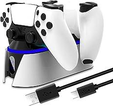 TwiHill a base é adequada para PS5, carregamento rápido do gamepad PS5, carga dupla do PS5, carregador de berço, Acessório...