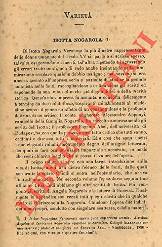 Isotta Nogarola.