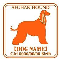 アフガンハウンド ステッカー Eパターン グッズ 名前 シール デカール 車 自動車 オリジナル くるま car カー 犬 いぬ イヌ シルエット リア アクセサリー バイク スーツケース(レモンイエロー)