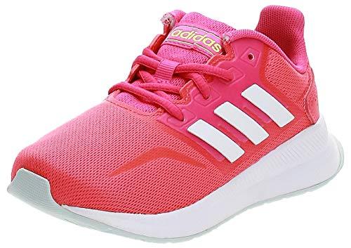 adidas Runfalcon Road Running Shoe, Shock Red/Footwear White/Shock Pink, 32 EU