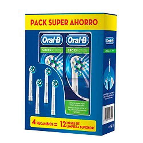 Oral-B CrossAction Recambio Cepillo Eléctrico, 3Ud+REGALO 1Ud