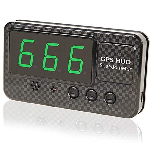 kingneed HUD Head Up Display C60S GPS Tachimetro con allarme di velocità MPH/KMH, allarme di stanchezza, schermo LED da 3,5 pollici per tutti i veicoli, bici, moto