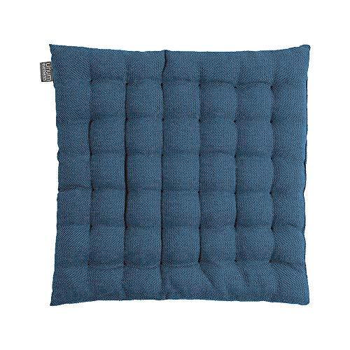 LINUM Pepper Elégante Galette de siège, 40 x 40 cm, Coton, Lavable en Machine (Bleu Nuit)
