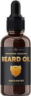 Beard Oil Conditioner - Unscented All Natural Virgin Argan, Jojoba, Grapeseed Oils & More for Beard Growth - Softens & Str...