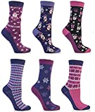 Festive Feet - 3 Paar Damen Neuheiten Weihnachtssocken (Stil kann variieren) EUR 36-41 4-8 UK