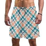 LORVIES Tartan - Bañador para hombre, secado rápido, talla L multicolor L