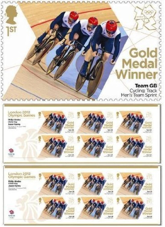 Olympische Spiele 2012 in London-Team GB Gold Miniatur-Medaille-Winner, Chris Hoy Philip Hindes, Jason Kenny 12 Stempel B008SJ448O    | Online-Shop