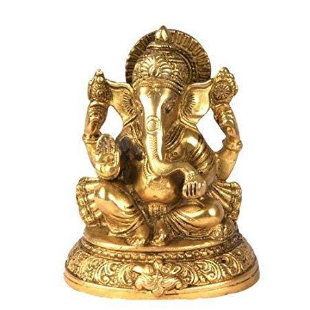 Modfash Shri Ganesh Idol/Brass Ganapati Idol/Ganesh/Ganapati/Vinayak/Bighna Harta Idol für Glück, Erfolg und Wohlstand
