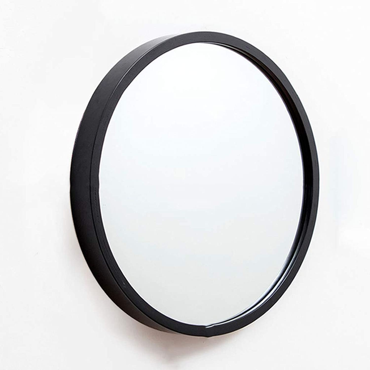 Black Nordic Round Bathroom Mirror Vanity Mirror Bathroom Mirror Wall Hanging Toilet Bathroom Round Mirror Wall Decoration Hanging Mirror