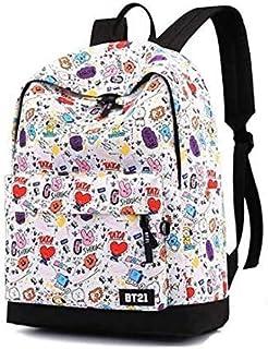 Rayking BTS cartoon backpack school student children canvas book bag casual shopping shoulder bag